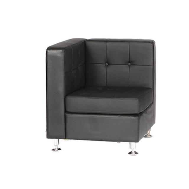 Black leather corner sectional rentals Charlotte NC | Where ...