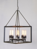 Rental store for 8 LIGHT IRON CUBE CHANDELIER in Charlotte NC