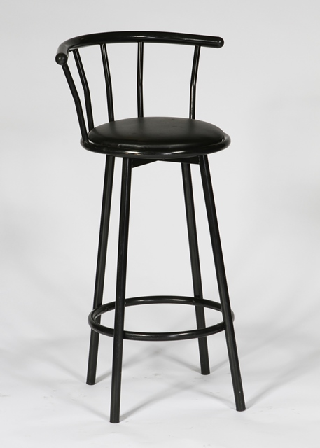 Where to find BARSTOOL SWIVEL HIGHBACK BLACK in Charlotte
