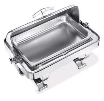 Where to find CHAFER 8 QT RECT STAINLESS ROLLTOP in Charlotte