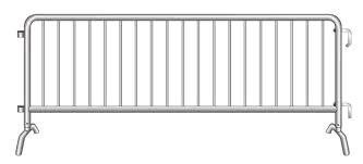 Where to find BARRICADE FENCE METAL 8  X 44 in Charlotte