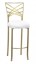 Rental store for CHAMELEON FANFARE GOLD BARSTOOL in Charlotte NC