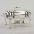 Rental store for 7 QT SERPENTINE SILVER CHAFING DISH in Charlotte NC